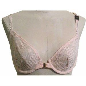 Victoria's Secret 34B Cream Colored Lace Demi Bra